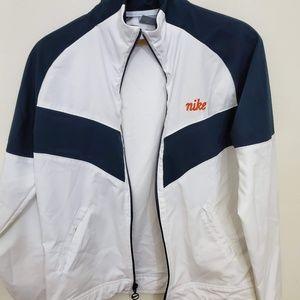 White and Black Nike Zip up Jacket